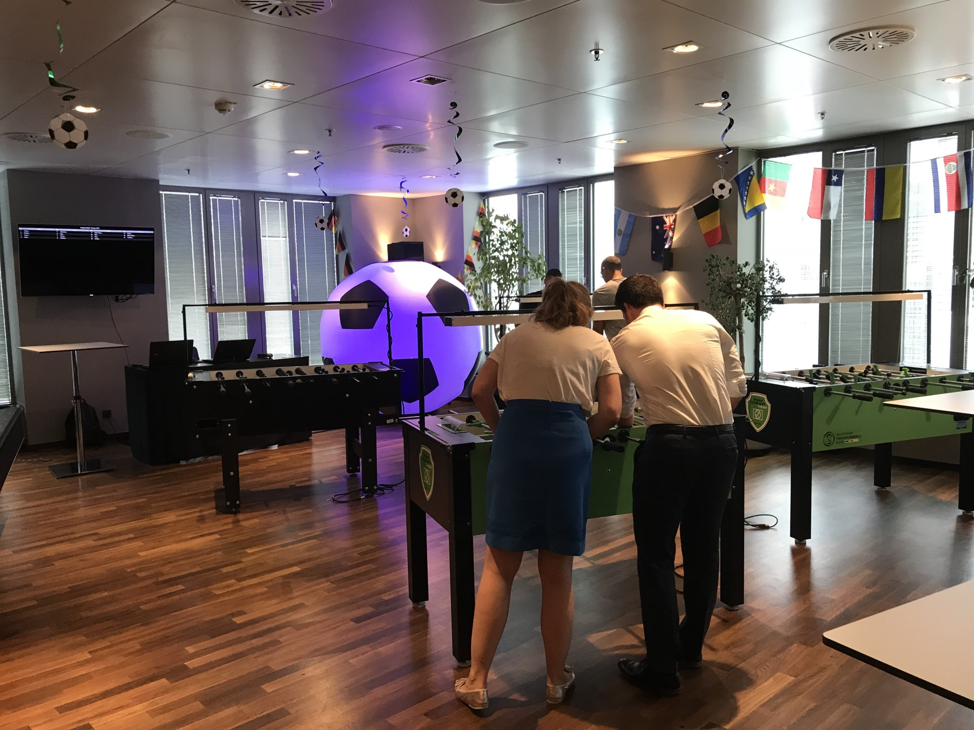 Table football tournament at our trainee evening in Frankfurt.