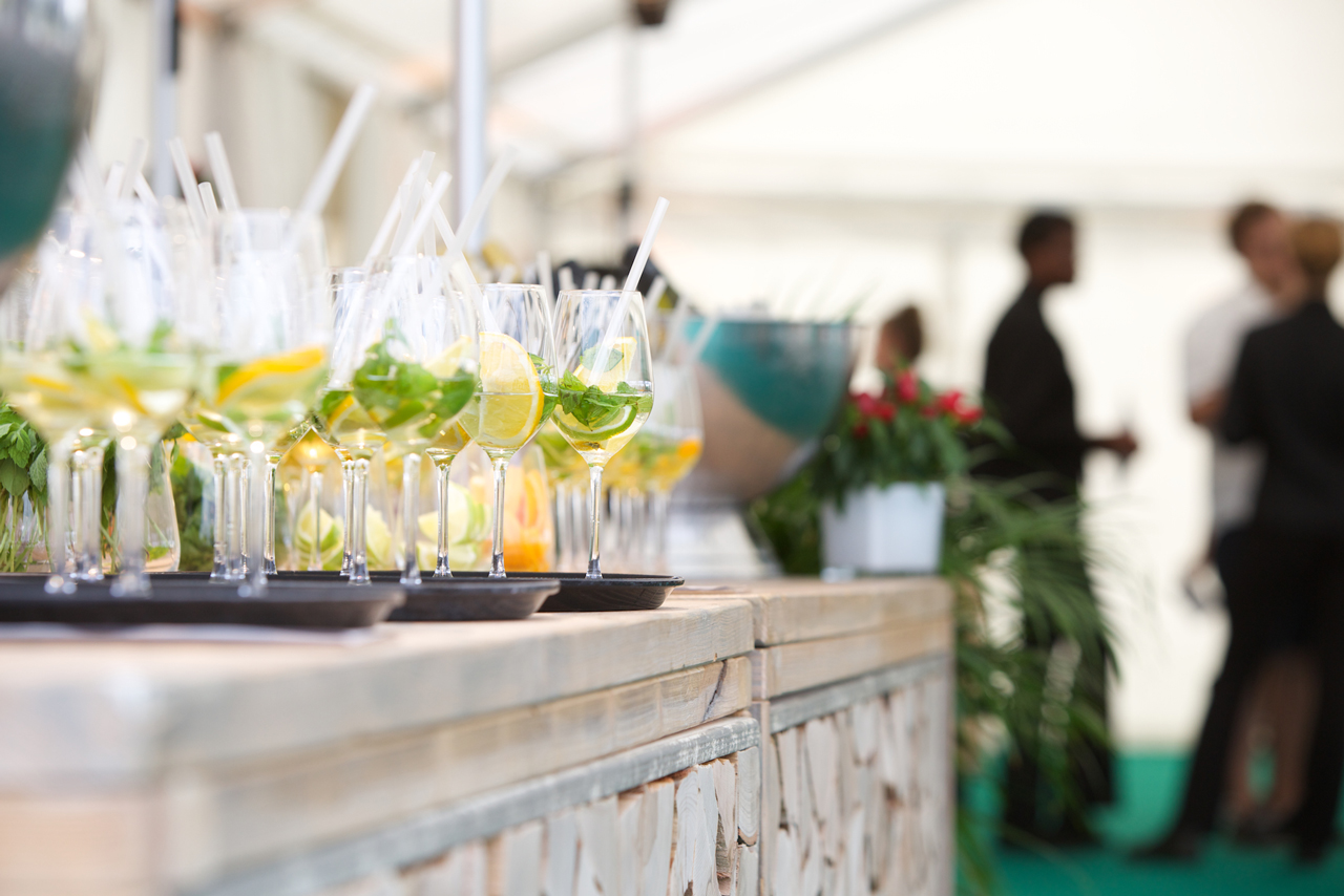 Cold drinks for the summer fest in Frankfurt.