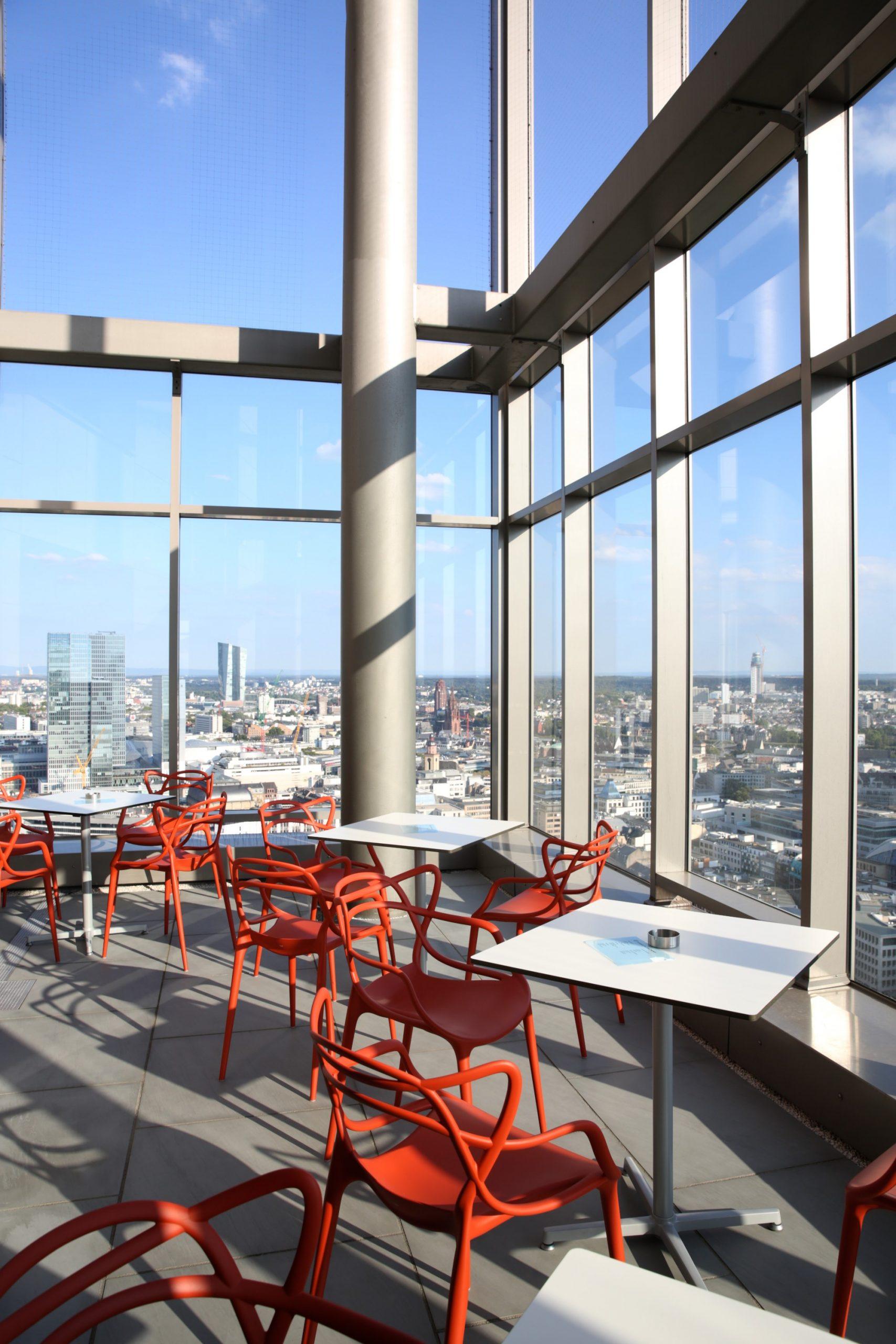 Pausenzeit auf der Dachterrasse unseres Frankfurter Büros.