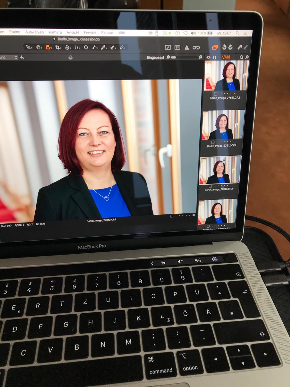 Fotoshooting für unsere neuen Business Services Testimonials.