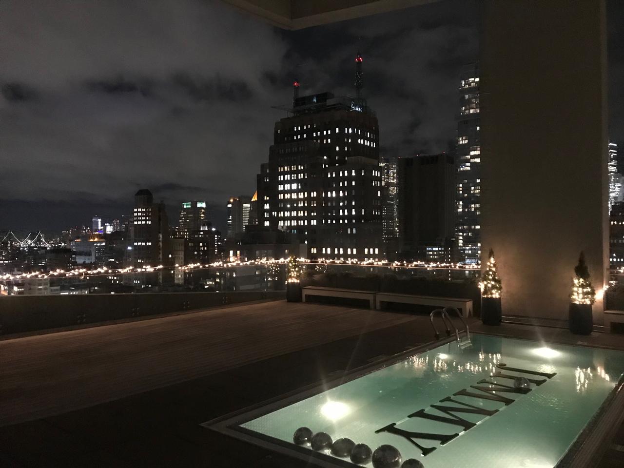 Skyline-Blick beim Get-Together vor der New York Jobfair.